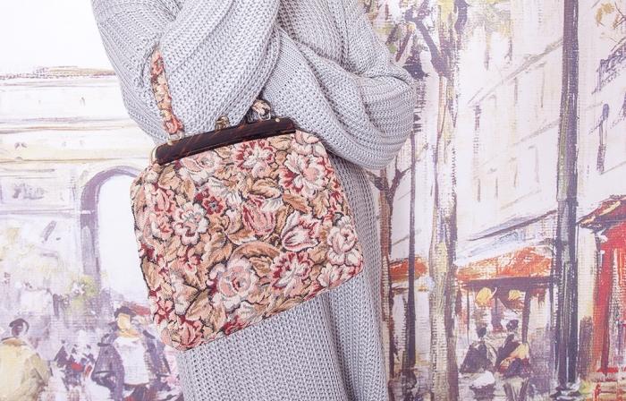 Винтажная сумочка из гобелена 18004