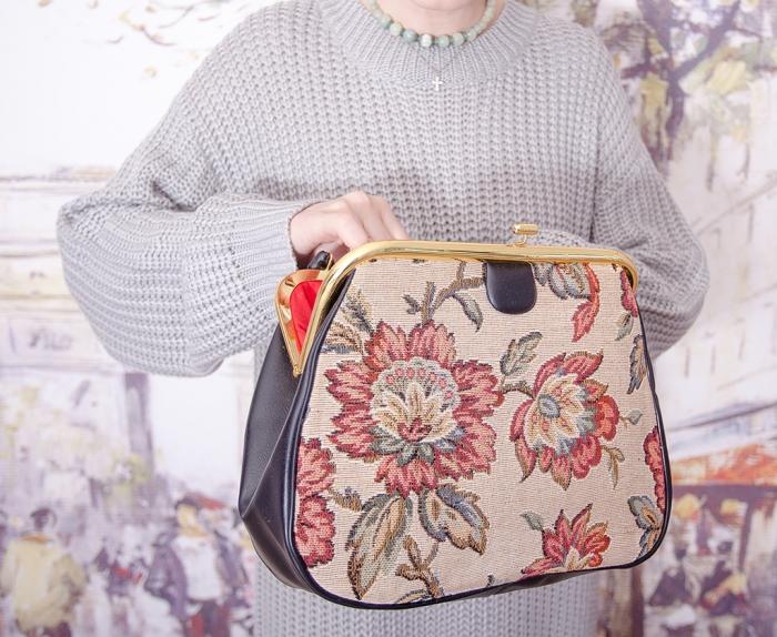 Винтажная сумочка из гобелена 18005