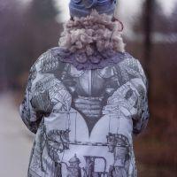Утепленная Куртка с принтом 17012
