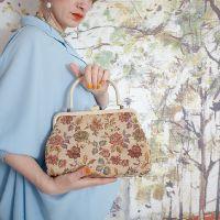 Винтажная сумочка из гобелена 18007