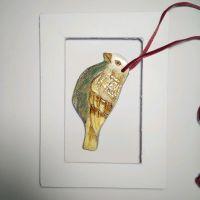 Керамическая птичка на ёлку